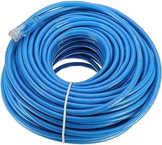 كابل شبكة مزدوج مجدول غير محجب من الفئة السادسة / Cat 6 بطول 30 متر ولون ازرق