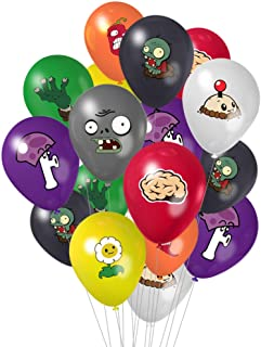 TGE-V Colorful Plant Versus Zombeis Balloons with 8 Different PVSZ Patterns for Plant VS Zombies Birthday Party Supplies D...