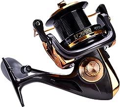 Dilwe Spinning Reel 12+1BB High Speed Metallic Casting Smooth Spinning Fishing Reels for Saltwater Freshwater Fishing