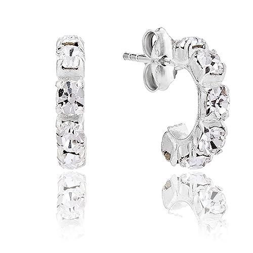 91b6e4c7e2d10 Half Hoop Earrings: Amazon.co.uk