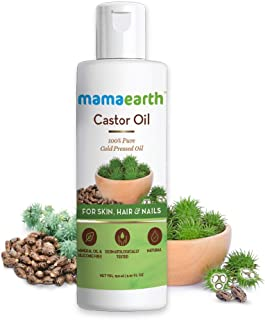Mamaearth Pure and Natural Cold-Pressed Castor Oil for Healthier Skin, Hair and Nails, 150ml