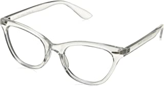 06bb58a208cb AStyles Vintage Inspired Half Tinted Frame Clear Lens Cat Eye Glasses