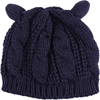 DRESSED IN MUSIC PLAY WITH ME Beanie Gorro de Punto para Hombre//Mujer Talla /única Gorro Negro