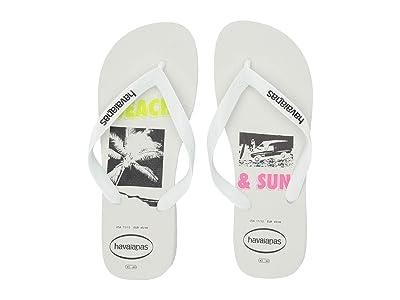 Havaianas Top Beach Sandal (White) Men