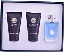 Versace Pour Homme by Versace for Men - 3 Pc Gift Set 1.7oz EDT Spray, 1.7oz Hair & Body Shampoo, 1.7oz After Shave Balm