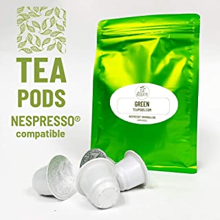 20 Organic green tea pods Nespresso compatible. Pack of 20 capsules