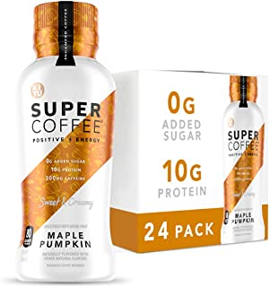 Kitu Super Coffee, Iced Keto Coffee (0g Added Sugar, 10g Protein, 80 Calories) [Maple Pumpkin] 12 Fl Oz, 24 Pack | Iced Co...
