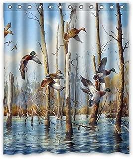 Shower Curtain 2018 Waterproof Bath Curtain Mandarin Duck/Mallard Duck/Duck Flying Home Decor Bathroom PEVA Fabric 60
