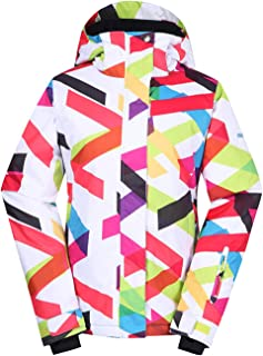 APTRO Women's Printed Ski Jacket Waterproof Windproof Snowboard Coat Rain Jacket