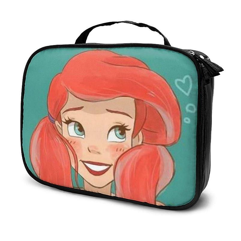 格差不従順食欲Daituかわいい人魚姫 化粧品袋の女性旅行バッグ収納大容量防水アクセサリー旅行