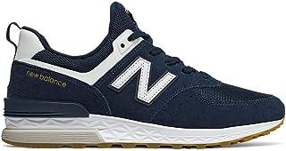 New Balance Classics(ニューバランス クラシック) メンズ 男性用 シューズ 靴 スニーカー 運動靴 MS574v1 - Vintage Indigo/White [並行輸入品]