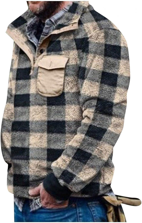 Sales for sale Sweaters lowest price for Men Men's Plaid Butt Plush Turtleneck Sweater