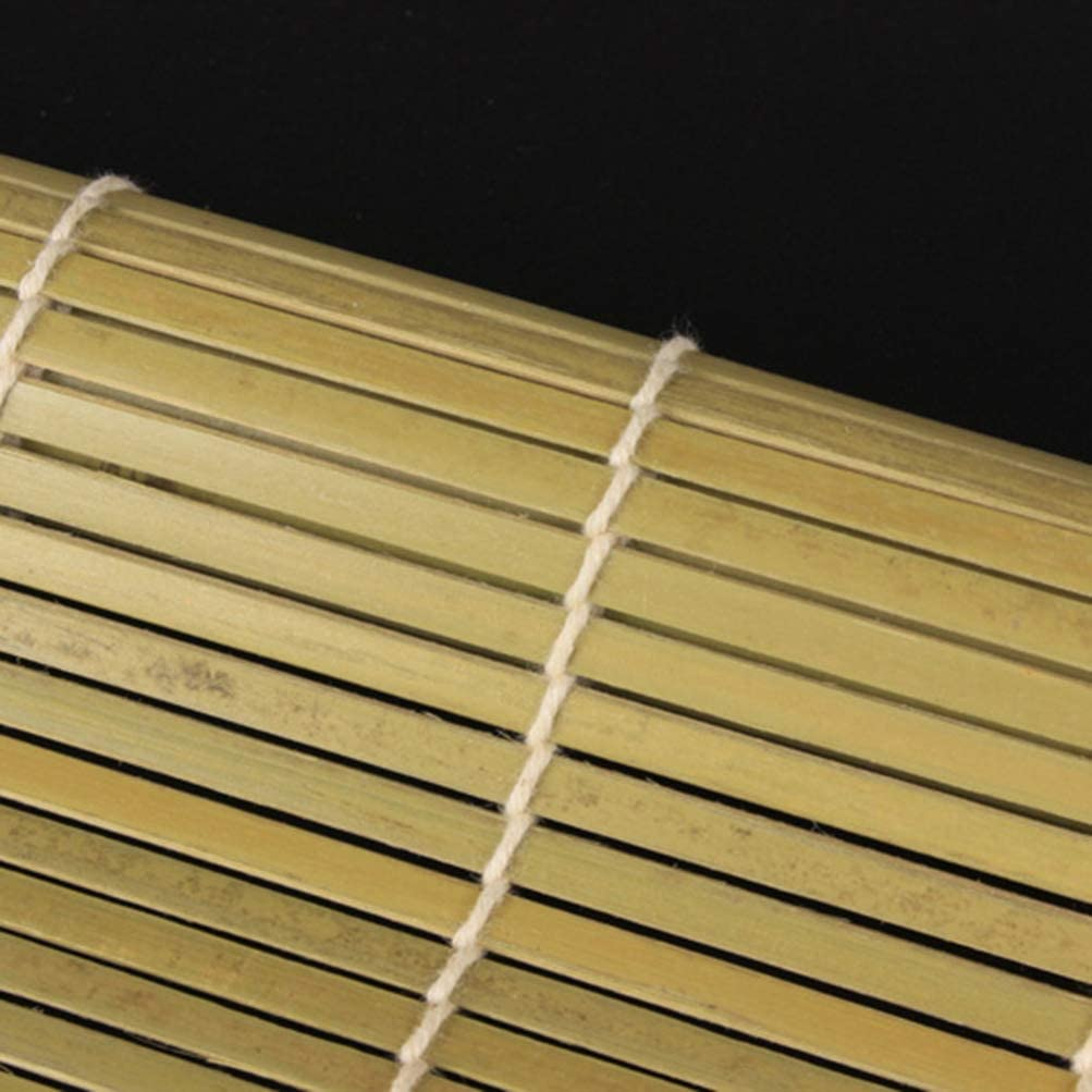 Yardwe Bamboo Sushi Roller Natural Sushi Making Mat Sushi Roller Bamboo Sushi Making Kit Tools Green 24x24cm