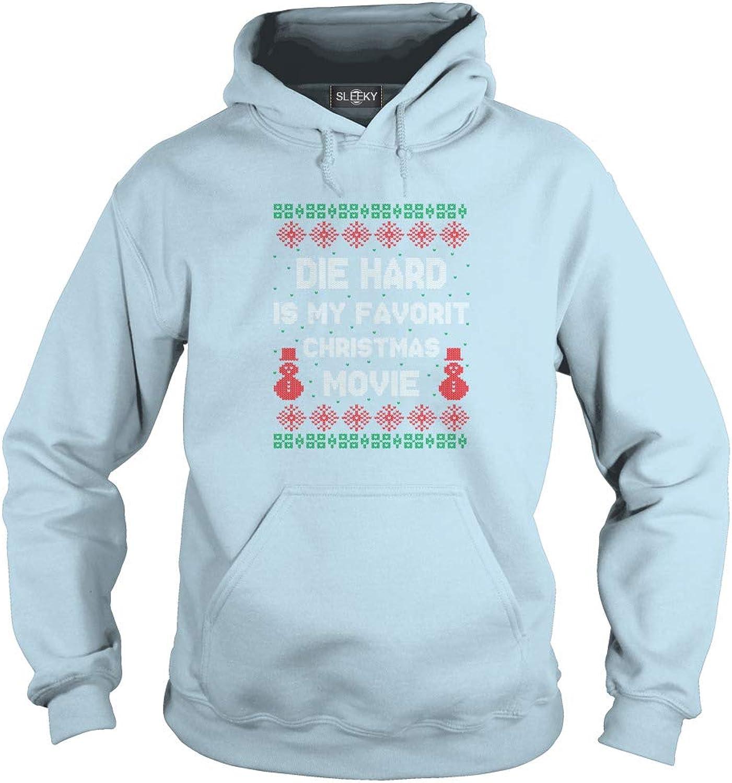 Sleeky Die Hard is My Favorit Christmas Movie Adult Hooded Sweatshirt
