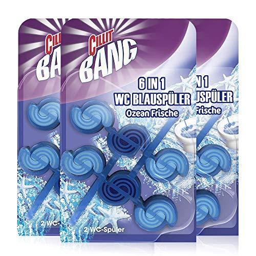 CILLIT BANG Blue Wave WC Spüler Ozean Frische – Toilettenreinigung mit Reinigungsschaum & Frischeduft – 3 x 2er Pack