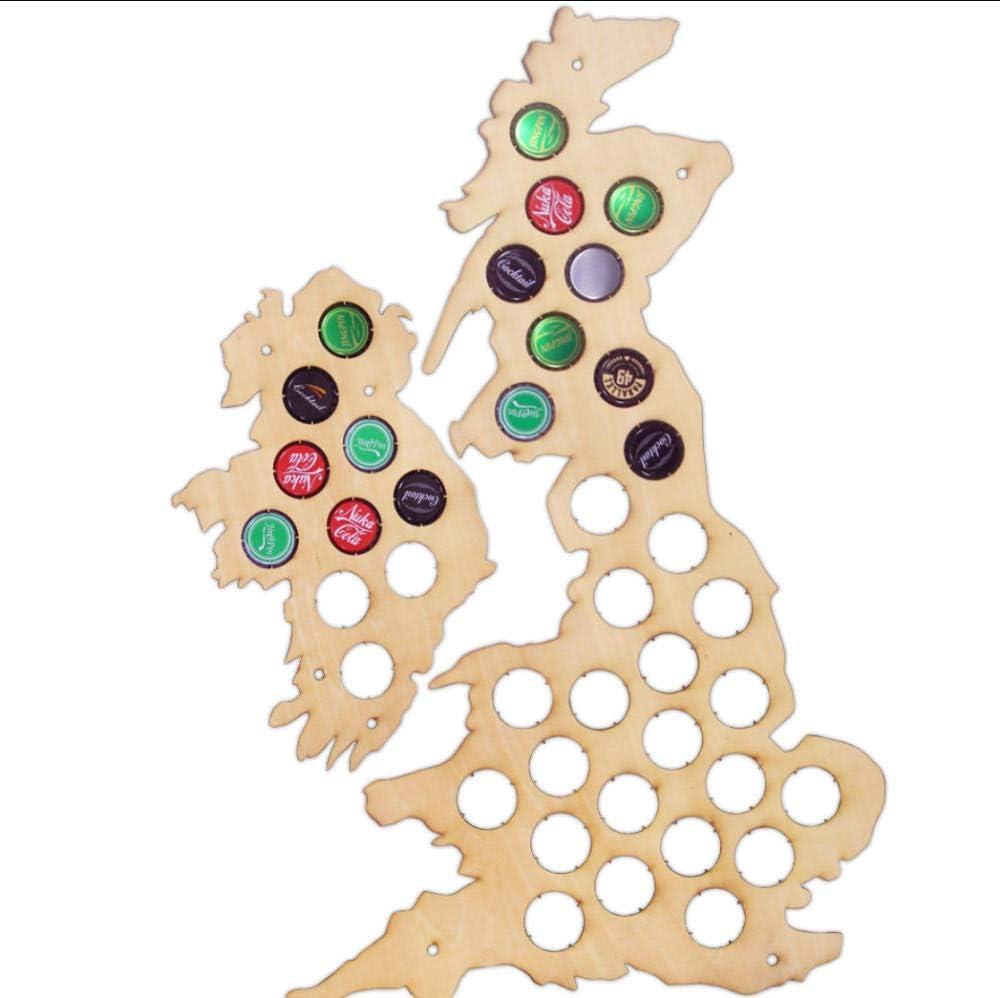 JHJUH Beer In stock Very popular! Cap Map Collection Bottle UK Holder