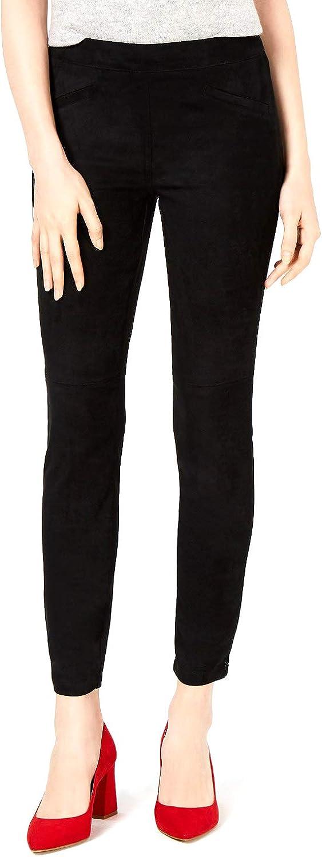 bar III Womens Faux Suede Casual Trouser Pants