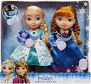 Disney Frozen Singing Sisters Anna and Elsa Talking Dolls