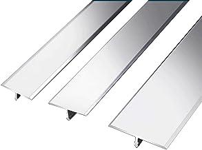 Drempelovergangsstrip Drempelstrip tapijt profiel Cover Overgangsverstrekken Laminaat 1.2m T vorm aluminium deur zilveren ...