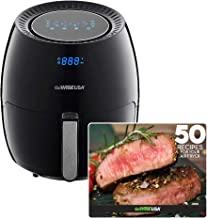 GoWISE USA GW22831 5.8-Quart Electric Air Fryer with Dual Digital Display + 50 Recipes for your Air Fryer Book