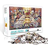 WJHXYD Mini Rompecabezas de 1000 Piezas para Adultos, Pato Donald (Alta dificultad), Juegos educativos, Regalo para la decoración de la Pared del hogar, 38x26 cm