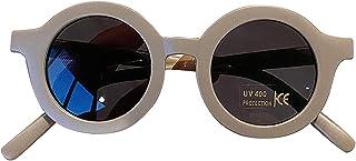 luminiu - Gafas de sol redondas para niños, polarizadas, cómodas, gafas de sol con protección UV, marco grueso, marco redondo, bonitas gafas de sol para exteriores, para niños