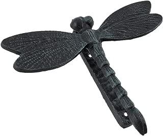Black Enamel Cast Iron Dragonfly Door Knocker