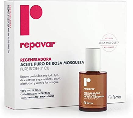 Repavar 100% Pure Rosehip Oil 15Ml Aceite Rosa Mosqueta MINESKIN TREATMENT