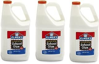 Elmers School pbwb 胶水,可水洗,白色,3 加仑(3 包)KXSvm