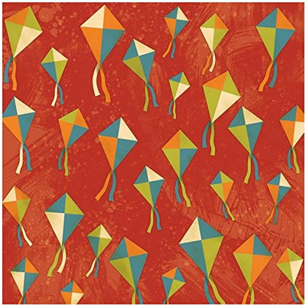 KAREN FOSTER Design Scrapbooking Paper, 25 Sheets, Kites Galore, 12 x 12