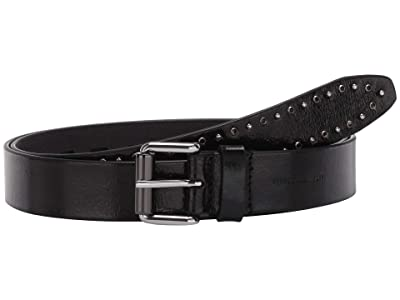 Rebecca Minkoff 30mm Belt with Studs and Crystals (Black) Women