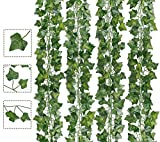 AIOR Plantas Hiedra Artificial, Decoración Exterior Colgante Guirnalda Hiedra Artificial Vine...