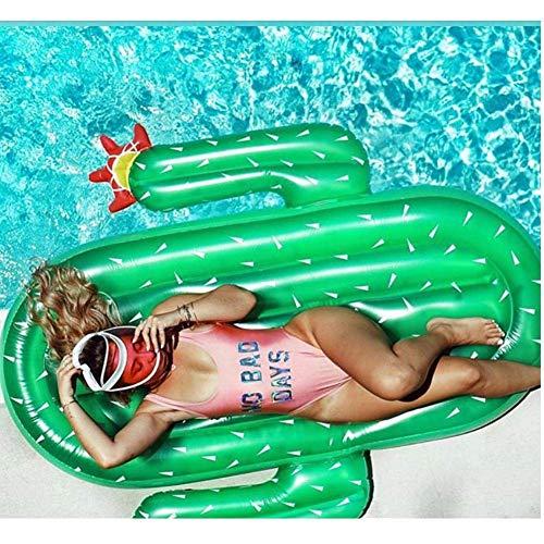 DJYD Cactus Flotante Inflable Fila/Equipado con Bomba de Aire/Piscina/Juguetes inflables del Agua del Amortiguador/Cama Flotante/flotantes del cojín Anillo de la natación FDWFN