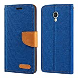 Meizu MX6 Hülle, Oxford Leder Wallet Case mit Soft TPU
