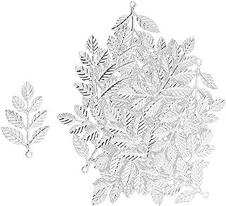 Baoblaze 30Pcs Metal Leaf Branches Charm Pendant Bracelet Connector Beads
