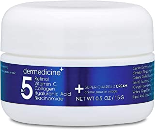 5 in 1 Retinol, Vitamin C, Collagen, Hyaluronic Acid, Niacinamide   Potent Face Cream which May Help Improve Appearance Fine Lines and Wrinkles and Reduce Appearance of Dark Spots   Trial .5oz