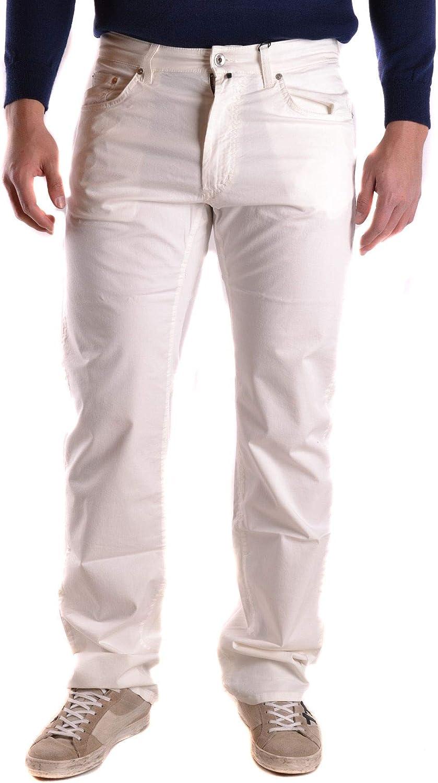 GANT Men's MCBI27716 White Cotton Pants
