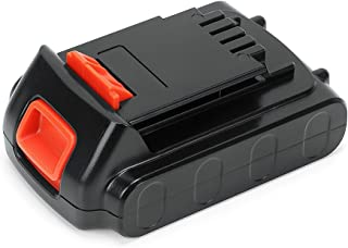 POWERAXIS 20V Lithium Ion LBXR20 Battery Replacement for Black and Decker 20V Max Battery LBXR20 LBXR20-OPE LBXR2020 LB20 LBX20 LB2X4020 LB2X4020-OPE Cordless Tool (Black)