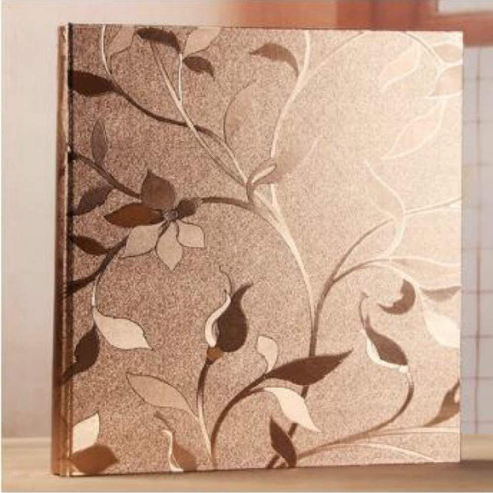Photo Albums Memory Scrapbook Kids Wedding Max 45% OFF Gold Rapid rise Large Pho Flower