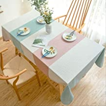 1 Pcs Waterproof Table Cloth Candy Color Stripe Rectangular Dining Table Cover Home Decor For Kitchen Courtyard Wedding Or...