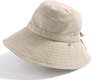 クイーンヘッド UVカット つば広 チャーム付きUVハット 小顔 帽子 ハット レディース 大きいサイズ 紫外線カット 女優帽