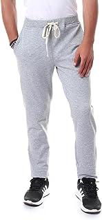 Off Cliff Side Pocket Elastic Waist Drawstring Cotton Sweatpants for Men - Heather Grey, XXL