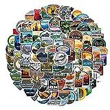 Hinleise 100 pegatinas de graffiti del Parque Nacional Impermeable Paquete de Pegatinas para Ordenador Portátil Botellas de Agua Skateboard Maleta Motocicleta Guitarra Pegatinas Decoración