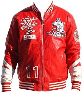 Kappa Alpha Psi Men's PU Leather Jacket Crimson Red