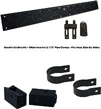 "$859 » Wet Sounds Stealth 10 Ultra HD Black + UTV Mounting Kit, Slider bracket and Round 1.75"" Tube clamp"