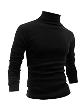 Men Slim Fit Lightweight Long Sleeve Pullover Top Turtleneck T-Shirt