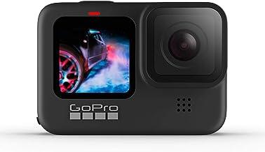 GoPro HERO9 Black - Cámara de acción impermeable con visualización LCD frontal y pantallas traseras táctiles, video 5K60 U...