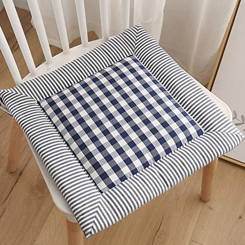 Juego de 4 almohadillas de asiento para silla de comedor, cojines de silla con lazos, suaves y transpirables, para uso en oficina, cojín de silla de comedor, 40 x 40 cm