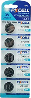 PKCELL CR2032 2032 ECR2032 DL2032 3V Lithium Button Coin Cell Battery (5)
