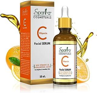 Spantra Vitamin C Facial Serum for Skin Repair, Reduce Hyperpigmentation, Blackheads and Promotes Collagen Production,50ml
